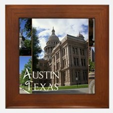 Austin, Texas Framed Tile