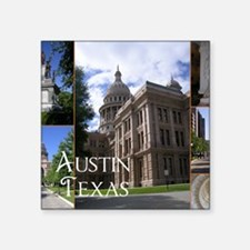 "Austin, Texas Square Sticker 3"" x 3"""