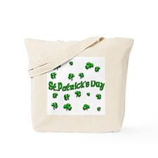 St Pats Shamrocks Tote Bag