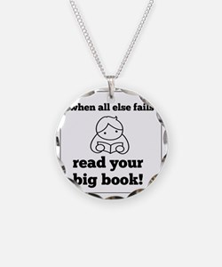 Big Book2 Necklace Circle Charm
