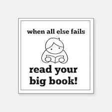 "Big Book2 Square Sticker 3"" x 3"""