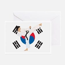 taekwondo korea Greeting Card