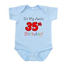 Aunts 35th Birthday Body Suit
