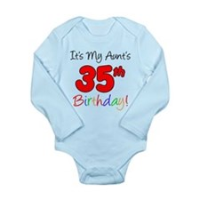 Aunts 35th Birthday Body Suit