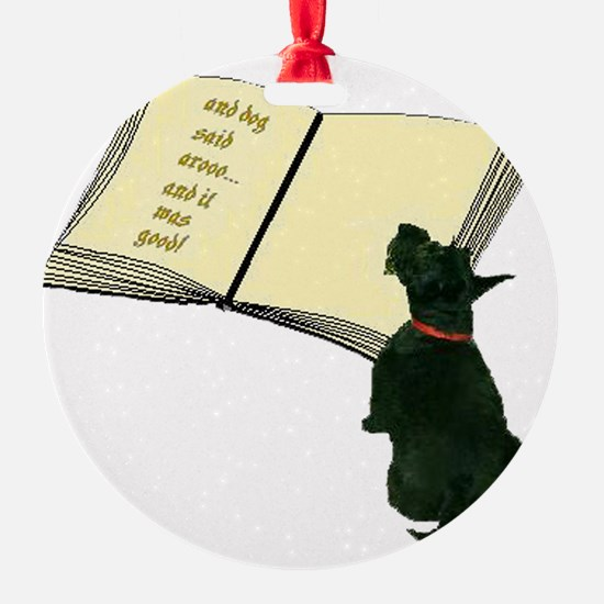 2-dog said Ornament