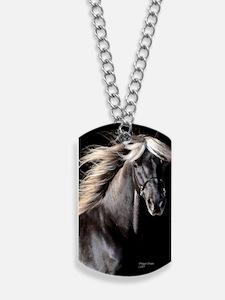 choco_horse_panel Dog Tags