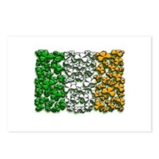 Irish Flag of Shamrocks Postcards (Package of 8)