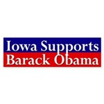 Iowa Supports Barack Obama bumper sticker
