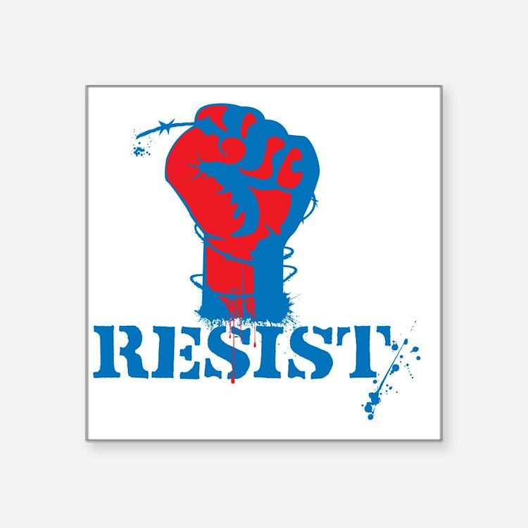 "Resist Square Sticker 3"" x 3"""