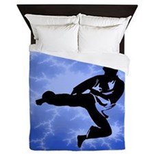 Karate Blue Queen Duvet