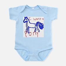 I want a pony Infant Bodysuit