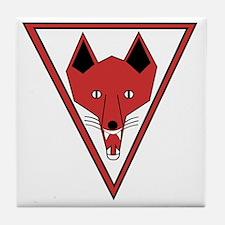 u-255_Grinning Fox Tile Coaster