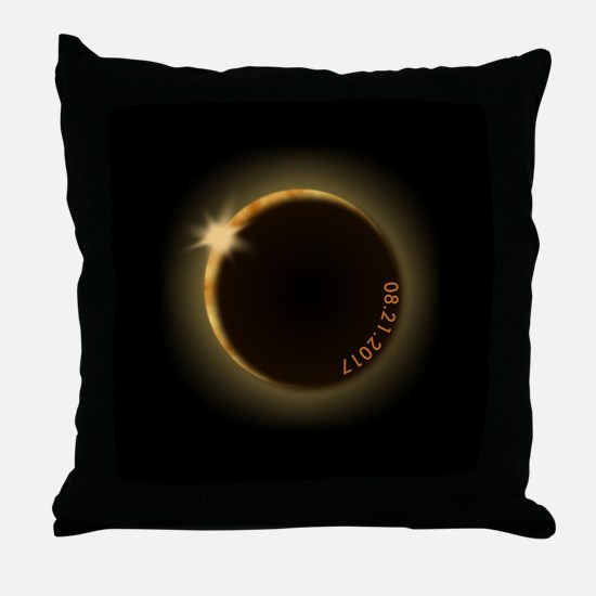 Funny Eclipse Throw Pillow