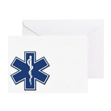 proud mother emt white Greeting Card