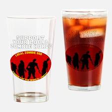 Zombie Horde dark Drinking Glass