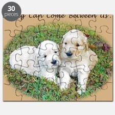 Love, Romance, Friendship Cute Puppies Gree Puzzle