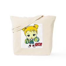 Blonde Cheerleader Tote Bag