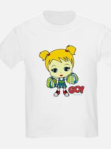 Blonde Cheerleader Kids T-Shirt