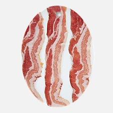 bacon-in-streifen Oval Ornament