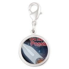 RocketPassion-10x10_apparel Silver Round Charm