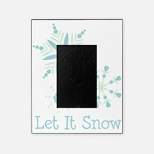 Let It Snow Snowflakes Picture Frame