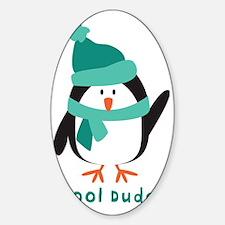 Cool Dude Penguin Sticker (Oval)