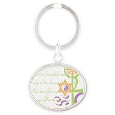 Multi Faith Praywear Oval Keychain