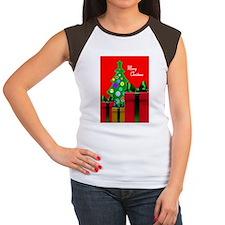 Merry Christmas Card Women's Cap Sleeve T-Shirt