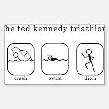 Ted Kennedy Triathlon Rectangle Decal