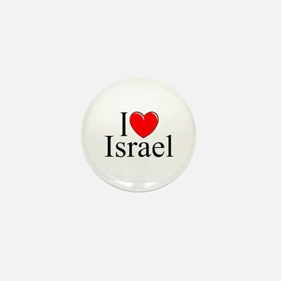 """I Love Israel"" Mini Button"