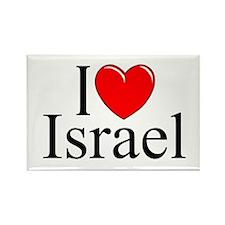 """I Love Israel"" Rectangle Magnet"