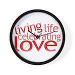 Celebrate Love Wall Clock