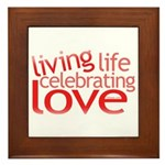 Celebrate Love Framed Tile
