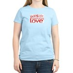 Celebrate Love Women's Pink T-Shirt