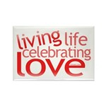 Celebrate Love Rectangle Magnet