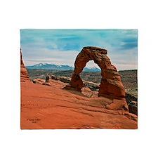 Delicate Arch in Moab, Utah Throw Blanket