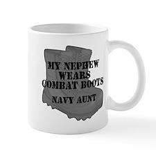 Navy Aunt Nephew Combat Boots Mugs