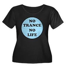 NO TRANC Women's Plus Size Dark Scoop Neck T-Shirt