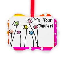 Its Your Jubilee Polka dots Ornament