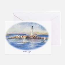 Boston Light Ornament Greeting Card
