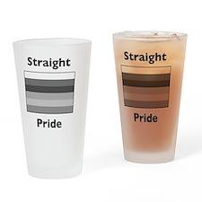 whitestraightpride Drinking Glass