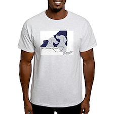 NYS Weim Rescue Ash Grey T-Blue logo