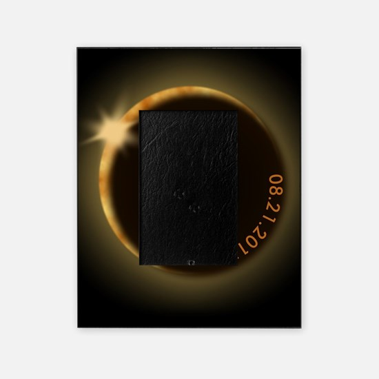 2017 total solar eclipse Picture Frame
