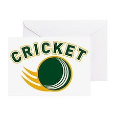 cricket ball flying Greeting Card