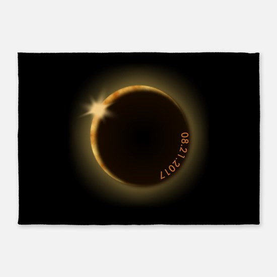 2017 total solar eclipse 5'x7'Area Rug