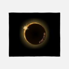 2017 total solar eclipse Throw Blanket