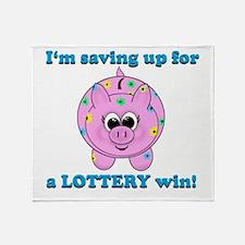 Lottery Piggy Bank Throw Blanket
