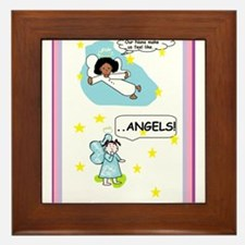 Nana two angels Framed Tile