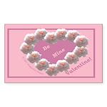 Cecil Brunner, Rose Wreath, valentine Sticker (Rec