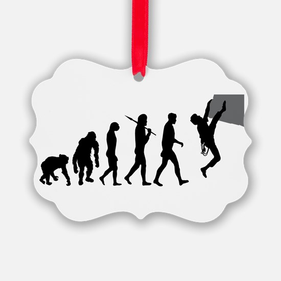 Rock Climbing Ornament